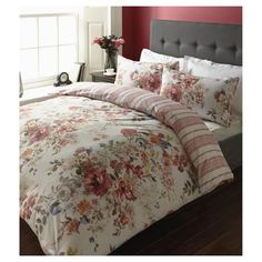 Winter Rose Floral King Size Duvet Set