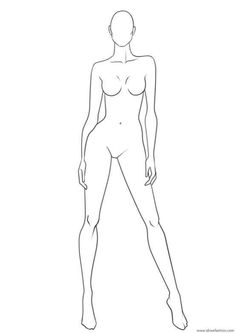 Fashion Illustration Poses, Fashion Illustration Template, Fashion Sketch Template, Fashion Figure Templates, Fashion Design Template, Illustration Mode, Fashion Drawing Tutorial, Fashion Figure Drawing, Fashion Model Drawing