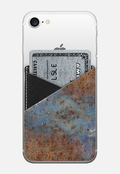 Leather pocket design collection by Casetify, Rust print by Bethania Lima Designs.