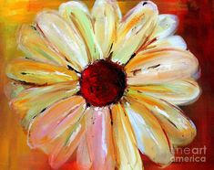Daisy A Day 2 Painting by Julie Lueders - Daisy A Day 2 Fine Art Prints and Posters for Sale