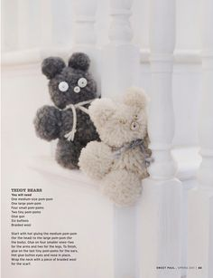 cute teddies to make with the little ones