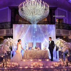 Bride & Groom table #Breathtaking #weddings #bride #bridetobe #love #marriage #engaged #ido #instalike #flo wers #vintage #bridesmaids #dream #ootd#ootn#mua #photography #proposal http://gelinshop.com/ipost/1522933381385293779/?code=BUii9duDg_T