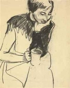 Richard Diebenkorn, Untitled (Portrait with Coffee Cup)