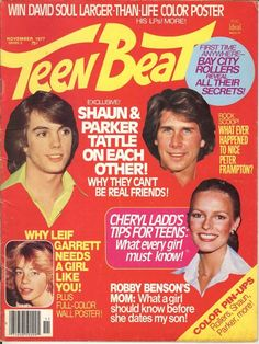 Teen Beat - Shaun Cassidy and Parker Stevenson, Cheryl Ladds, Leif Garrett I remember buying Teen and Tiger Beat at Convenient Food Mart On Barbour Lane
