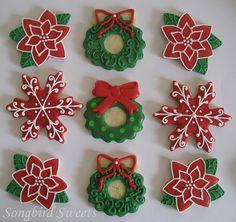 Poinsettias, Wreaths & Snowflakes