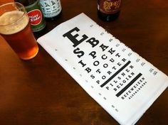 Craft Beer Eye Chart Bar Towel by brewershirts on Etsy, $10.00