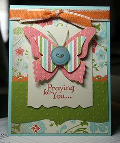Stampin' Up!  Thoughts and Prayers  #113252 Krystal De Leeuw  Beautiful Butterflies