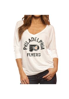 Style ---- Original Retro Brand T-Shirt - Flyers White Flyers Viscose 3/4 Long Sleeve