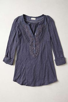Anthropologie - Chennai Henley size m by Meadow Rue