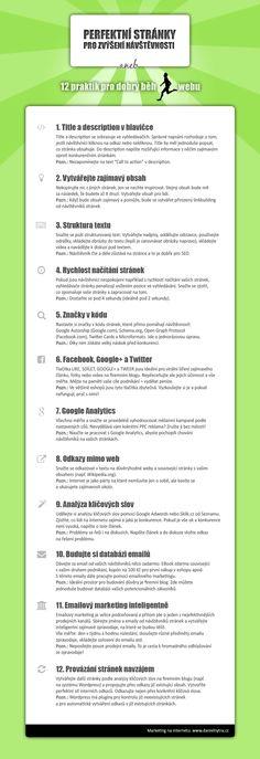 Perfektní stránky pro zvýšení návštěvnosti aneb 12 praktik pro dobrý běh webu