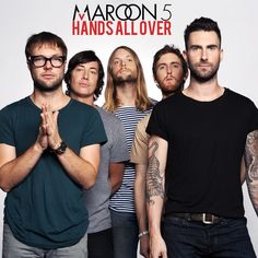 Maroon 5, Hands All Over. From left to right: Mickey Madden, Matt Flynn, James Valentine, Jesse Carmichael, and Adam Levine.