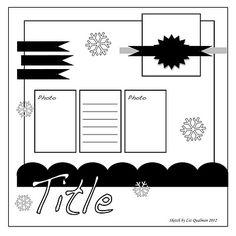 Great Sketch....sample page idea in Scrapbook Page Ideas!