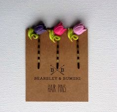 Purple Ombre Tulip Hair Pins, Flower Bobby Pins, Boho