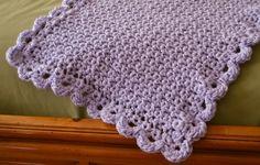 Scallop Edge Crochet Blanket - broken link