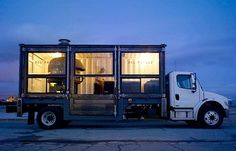 Stunning mobile pizzeria made from recycled shipping container