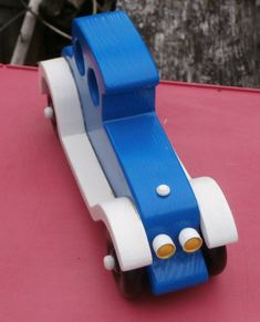 Handmade Wooden Toy Car - Old Fashion Style Touring Auto - Wooden Car - Wood Toy - Imagination Toy Push Pull - Classic Touring Car - Blue #odinstoyfactory #tallahassee #florida #handmade #handcrafted #woodentoys #woodentoy #blue