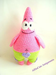 Free Crochet Pattern Patrick Star : Crochet Crafts on Pinterest Crochet Fox, Minecraft ...