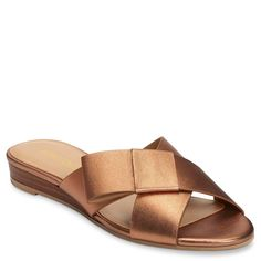 Keep it simple in these casually chic criss-cross slides. With a low stacked heel and pared-down silhouette, they're a versatile addition to your spring shoe wardrobe. Genuine Leather or fabric upper. Plus Size Fashion Tips, Plus Size Outfits, Slide Sandals, Women's Sandals, Flats, Curvy Girl Fashion, Women's Fashion, Shoe Wardrobe, Spring Shoes