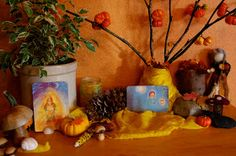 passengers on a little spaceship: autumn nature table