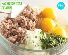cómo hacer tortitas de atún Eating Healthy, Healthy Foods, Healthy Recipes, Skinny Recipes, Tasty, Diet, Crochet, Ethnic Recipes, Eating Clean