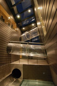 chorrera - tobogan - slide - chure -Aqualux Therme Fohnsdorf - Architizer