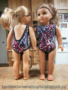 Carole's Corner of Crafts: American Girl Doll One Piece Bathing suit, Beach Towel and Beach Bag Tutorials AG004
