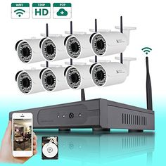 Special Offers - SW 8CH WIFI NVR Wireless Security Camera System with 8 Indoor/Outdoor 720P Wireless IP Night Vision CCTV Camera and 1TB Hard Drive Plug and Play - In stock & Free Shipping. You can save more money! Check It (September 06 2016 at 09:22AM) >> http://smokealarmusa.net/sw-8ch-wifi-nvr-wireless-security-camera-system-with-8-indooroutdoor-720p-wireless-ip-night-vision-cctv-camera-and-1tb-hard-drive-plug-and-play/