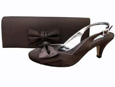 Twee Express Brown Ladies Shoes. #BrownEveningShoes
