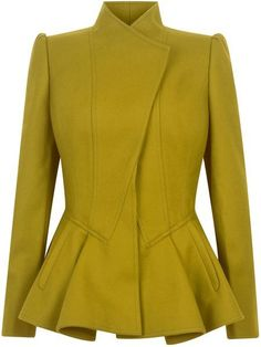 Womens Ted Baker Wrenn wool peplum jacket, Green discovered on Fantasy Shopper Look Fashion, Winter Fashion, Womens Fashion, Fashion Design, Peplum Jacket, Peplum Blazer, Work Attire, Mode Inspiration, Mode Style