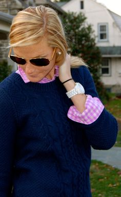 Love the pink with navy blue! I wonder if my light pink one would work