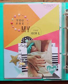 Baby Scrapbook | A Beautiful Mess Messy Book | Ann-Marie Espinoza