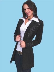 A Scully Ladies' Leather Suede Jacket: Embroidered Car Coat Black Advance Order Coats For Women, Jackets For Women, Clothes For Women, Men's Jackets, Designer Leather Jackets, Suede Coat, Suede Jacket, Suede Leather, Country Fashion