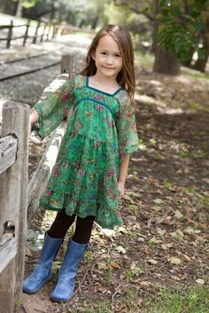 Beautiful green with butterflies  #littleskyefall2012