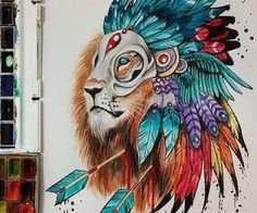 Image in art inspo collection by Sanna Hedberg Amazing Drawings, Beautiful Drawings, Cool Drawings, Amazing Art, Lion Drawing, Painting & Drawing, Lion Sketch, Lion Art, Lion Tattoo