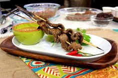 RECIPE: Beef Satay Skewers with Peanut Sauce