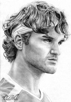 Sketches Of Faces | chloe 1 713x1024 ROME MASTERS: ROGER FEDERER DRAWINGS BY CHLOE WHITE
