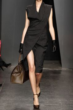 Donna Karan New York Origami WoolBlend Dress in Gray