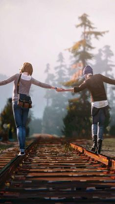 Life Is Strange / Max Caulfield and Chloe Price! The Stranger, Life Is Strange Wallpaper, Life Is Strange 3, Life Is Strange Fanart, Strange Art, Max And Chloe, Butterfly Effect, Blue Butterfly, Video X