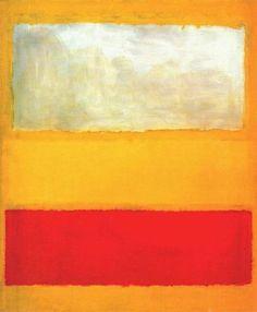 Mark Rothko, No. 13 (White, Red on Yellow)