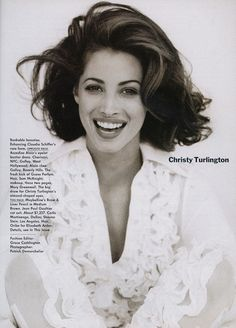 """Beauty's $1,000,000 Babies"" Christy Turlington, American Vogue 1992."