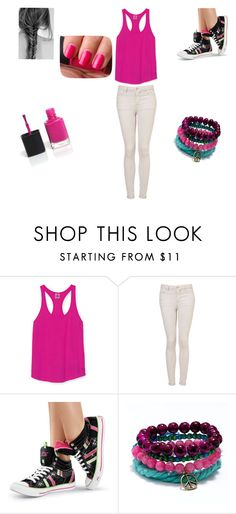 """""""Julietaaaaa :Q"""" by solcito01 ❤ liked on Polyvore featuring Victoria's Secret PINK, Topshop and Gotta Flurt"""