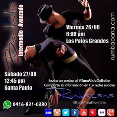 Para Bailadores de #Bachata con un nivel Básico - Intermedio Sólido. Es la oportunidad de incorporarte a #Rumbacana #BailaParaDivertirte  #Venezuela #Caracas #Baile #Bailar