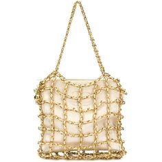 Chanel Vintage chain cage tote (94.800 ARS) ❤ liked on Polyvore featuring bags, handbags, tote bags, chanel, purses, totes, white, handbags totes, vintage leather tote and quilted totes