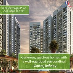 Godrej Infinity Pune has the very best housing solutions in offer at keshav nagar one of the most flourishing area of Pune. Being located, in close proximity to some of the important locations such as Koregaon Park, Kharadi and Hadapsar, Godrej Infinity Pune also enjoys advantage of location. For more details about this project please visit http://www.propertypointer.com/godrej-infinity/keshav-nagar/pune
