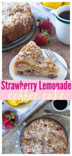 This beautiful Strawberry Lemonade Coffee Cake is the perfect centerpiece for your Mother's Day Brunch. Moist, tender, and bursting with the spring flavors of lemon and fresh strawberries. Find the recipe at www.wellplated.com @wellplated