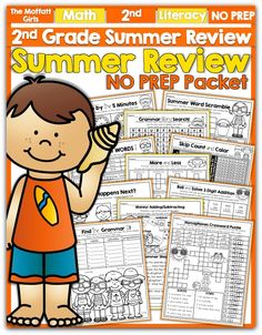 Our NO PREP Summer Review packets help your 2nd Graders ready for some fun on the go learning!