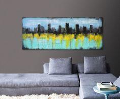Peinture acrylique décoration murale CITY par PanoramaPaintings