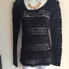 Brand new black express lace top. Firm unless bundled. Thank you for understanding.  Express Tops Blouses