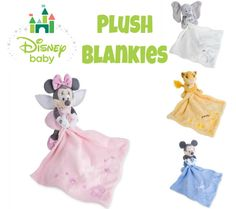 Cuddle Up With Adorable Disney Plush Blankies