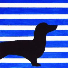 If you can paint a wall, you can paint this dog silhouette art for a kid's room.